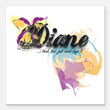 "Custom Name Diva shirts Square Car Magnet 3"" x 3"""