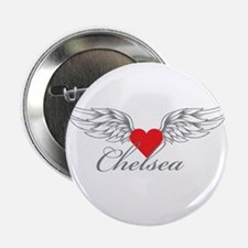 "Angel Wings Chelsea 2.25"" Button"