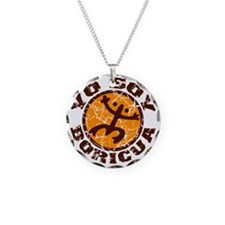 Yo Soy Boricua Brown-Orange Necklace