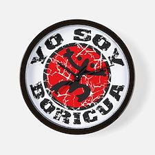 Yo Soy Boricua Black-Red Wall Clock