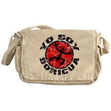 Yo Soy Boricua Black-Red Messenger Bag