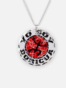 Yo Soy Boricua Black-Red Necklace