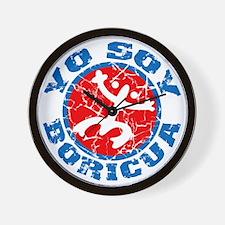 Yo Soy Boricua Blue-Red Wall Clock