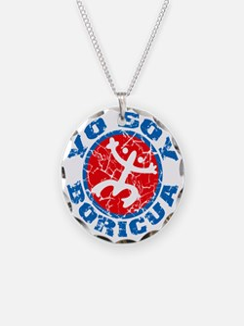 Yo Soy Boricua Blue-Red Necklace