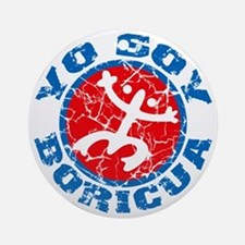 Yo Soy Boricua Blue-Red Round Ornament