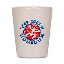 Yo Soy Boricua Blue-Red Shot Glass