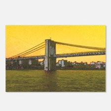 Vintage Brooklyn Bridge D Postcards (Package of 8)
