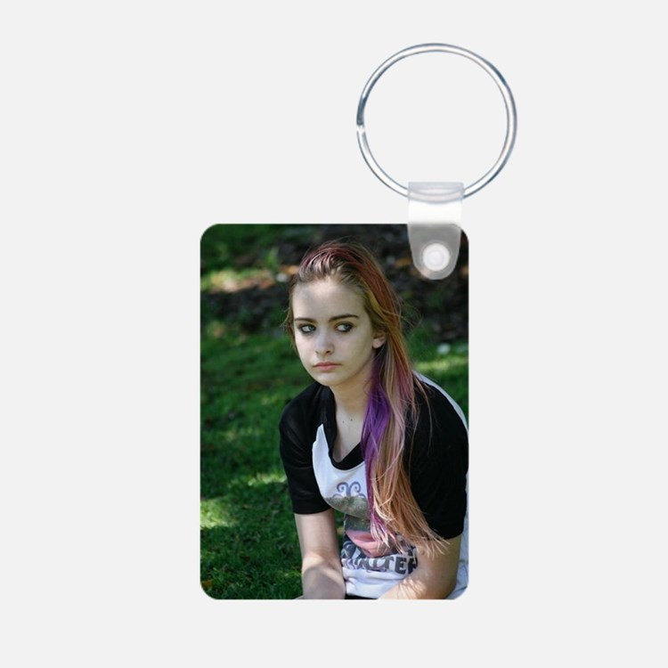ayla Aluminum Photo Keychain
