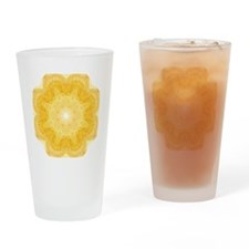 Cute Yellow sun Drinking Glass