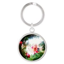 ayla4 Round Keychain