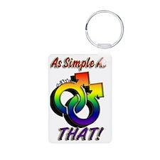 G-Stylz (Simply Gay) Aluminum Photo Keychain