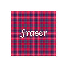 "Tartan - Fraser Square Sticker 3"" x 3"""