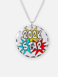 rock star tshirt Necklace