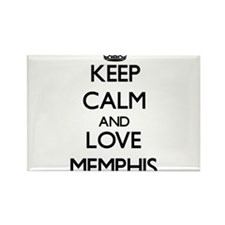 Keep Calm and Love Memphis Magnets