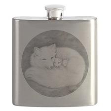 Round Fox Family Flask