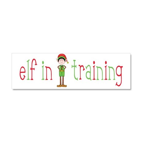 Elf in Training Car Magnet 10 x 3