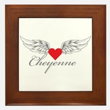 Angel Wings Cheyenne Framed Tile