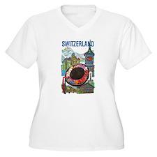 Vintage Switzerland Travel Plus Size T-Shirt