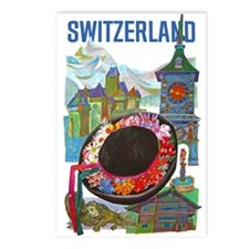 Vintage Switzerland Travel Postcards (Package of 8