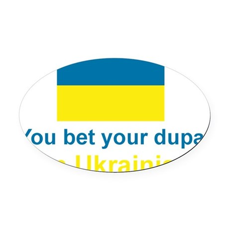 Ukraine_Dupa_Dark Oval Car Magnet