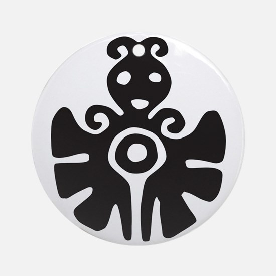 Aztec Butterfly Ornament (Round)