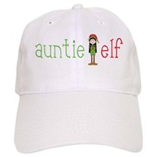 Auntie Christmas Elf Baseball Cap
