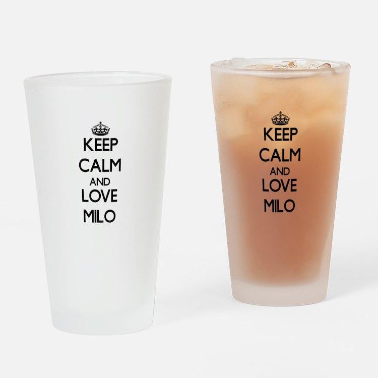 Keep Calm and Love Milo Drinking Glass