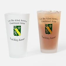 1st Bn 63rd AR Drinking Glass