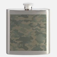 Camo Pattern Green Flask