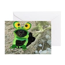 Mar/lickycat2/Sleepy Frog Greeting Card