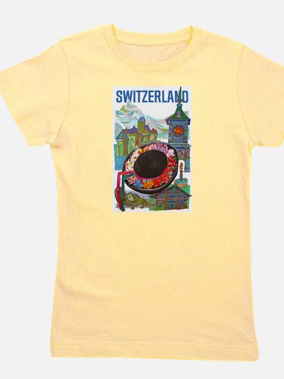 Vintage Switzerland Travel Girl's Tee