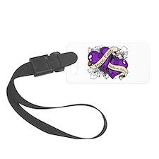 Epilepsy Hope Faith Dual Hearts Luggage Tag