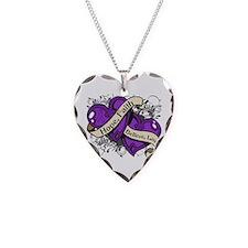 Epilepsy Hope Faith Dual Hearts Necklace