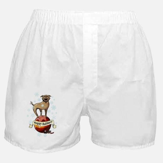 ornament oval hoppy holidays floyd Boxer Shorts