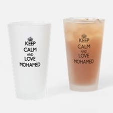 Keep Calm and Love Mohamed Drinking Glass