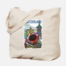 Vintage Switzerland Travel Tote Bag