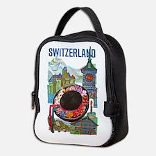 Vintage Switzerland Travel Neoprene Lunch Bag