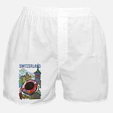 Vintage Switzerland Travel Boxer Shorts