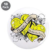 "Endometriosis Hope Hearts 3.5"" Button (10 pack)"