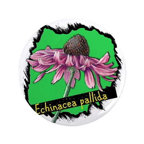 "pink coneflower-200 3.5"" Button"