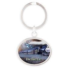 Believe Oval Keychain