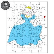 Princess Feline in Blue Puzzle