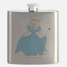 Princess Feline in Blue Flask