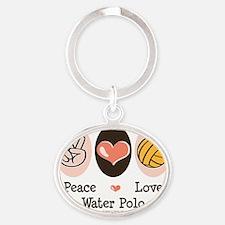 WaterPoloPL Oval Keychain