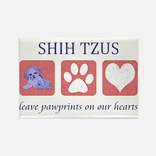 FIN-shih-tzu-pawprints-CROP Rectangle Magnet