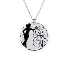 PROJECT SAFE GIRLS LOGO LG W Necklace