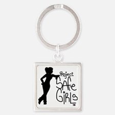 PROJECT SAFE GIRLS LOGO LG WITH TM Square Keychain