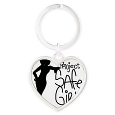 PROJECT SAFE GIRLS LOGO LG WITH TM9 Heart Keychain