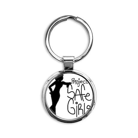 PROJECT SAFE GIRLS LOGO LG WITH TM9 Round Keychain