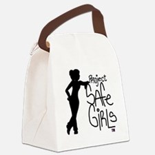 PROJECT SAFE GIRLS LOGO LG WITH T Canvas Lunch Bag